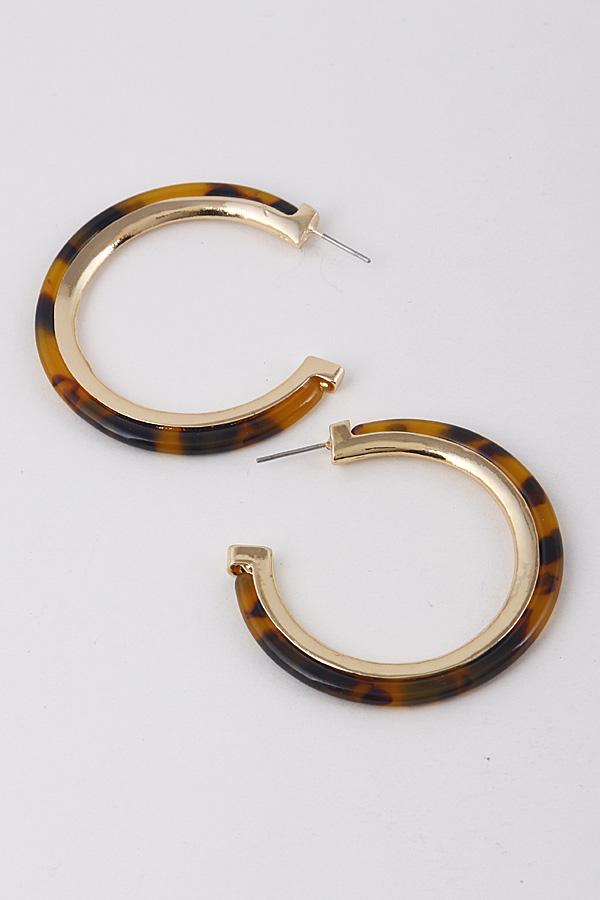 2586450 GOLD BROWN Cute Hoop Earrings 9ACD8
