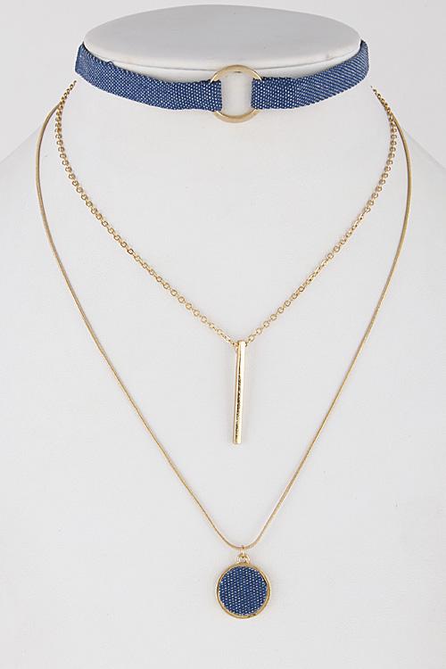 Denim Jewelry Set