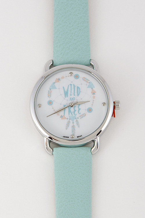 6578ce2861 10055 SILVER MINT Wild And Free Summer Inspired Watch 6FBH9 - Watches