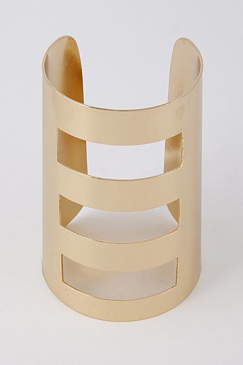 ee45473fb07 MB3891 SILVER Solid Open Thick Cuff Bracelet 6HCJ7 - Bracelets