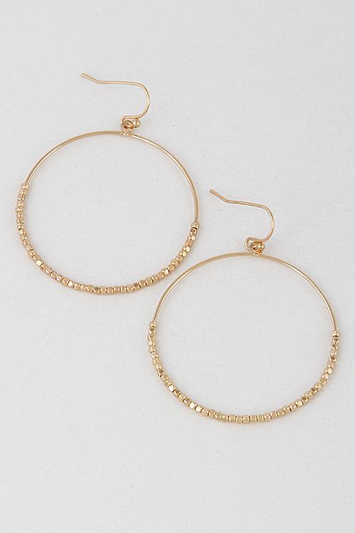 3ae235f52 E8101 Thin Hoop Earrings With Shiny Stones 7LCB5