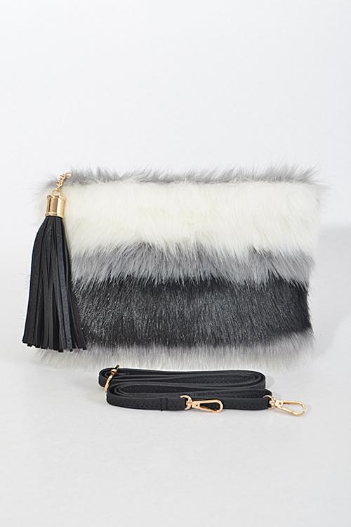 3cbef2a3a55b PPC5056 Good luck Faux Fur Clutch - Handbags