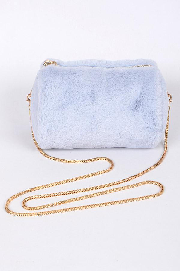 47c7d8595c77 PPC5675. Blue Trendy Faux Fur Clutch For You - Clutch Wallet