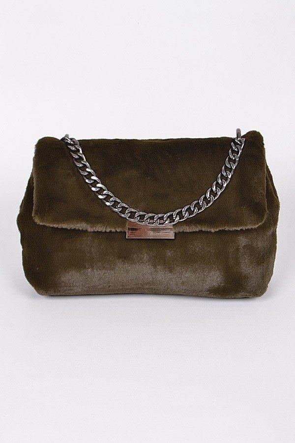 4d82cbf183b6 PPC5800 OLIVE Faux Fur Elegant Clutch - Clutch Wallet