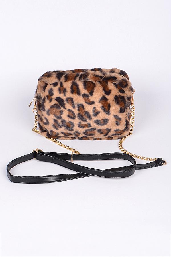 fbaeff3bc7e1 Faux Fur Leopard Print Clutch. Home · Handbags · Clutch Wallet · Tap to  expand