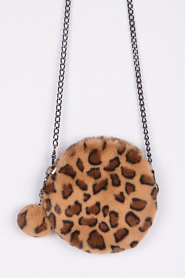 29fa475b2182 Circle Leopard Faux Fur Clutch. Home · Handbags · Clutch Wallet · Tap to  expand