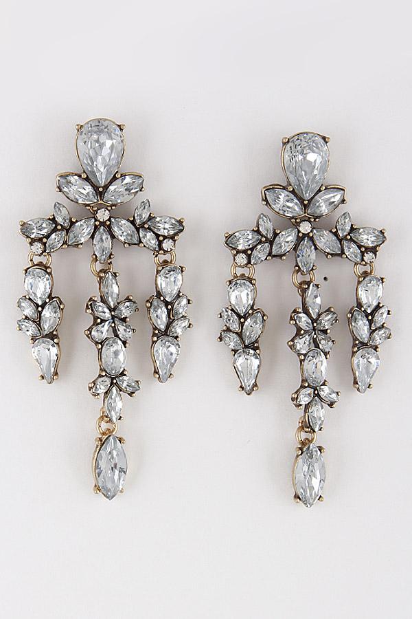 Antique Style Rhinestone Earrings 8ecb6