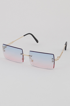 Rimless Rectangulur Sunglasses