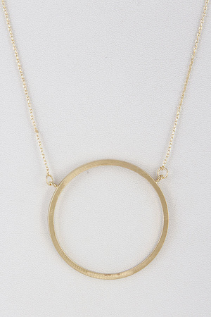 Circle Ring Statement Necklace 9DBC7