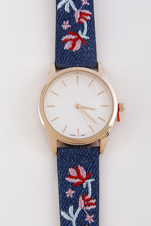 Lovely Watch With Flower Details 8ACC5