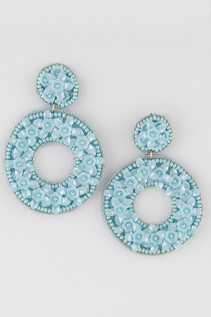 Open Cut Round Flower Drop Earring