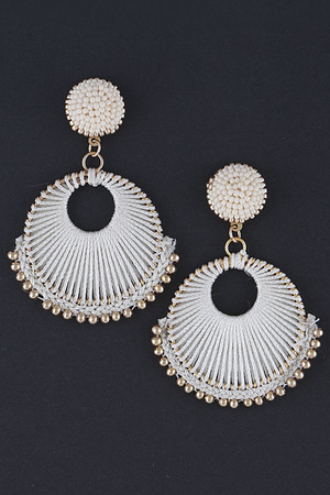 Beaded jellyfish Drop Earring