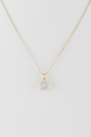 Special Square Rhinestone Necklace