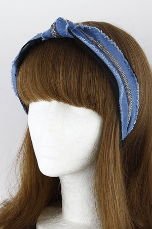 Knotted Denim Head Band 9JAB