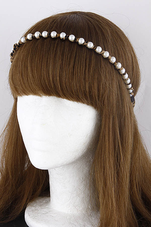 Tie Back Pearl Head Band 9JAB