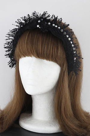 Pearls On Tassel Headband 9KAB
