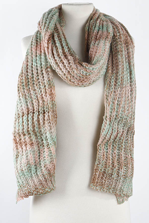 Dye Effect Knit Scarf