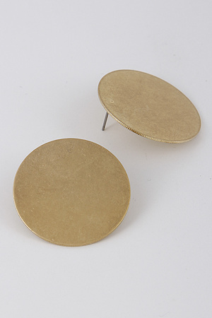 Circle Flat Metallic Earrings 8BBC9