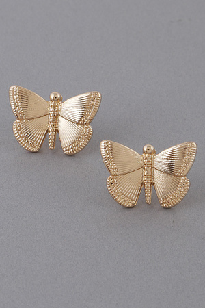 Butterfly Stud Earrings 9KAA1