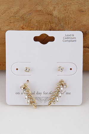 Leaves Stud Earrings Set 9JAD3
