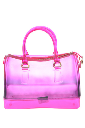 Clear Rainbow Jelly Tote