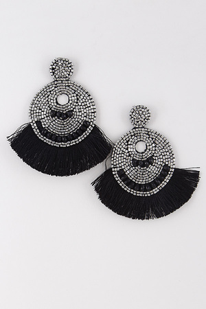 Tassel & Beaded Daily Earrings 8EBA4