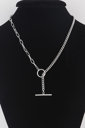Ship Dot Drop Chain Necklace