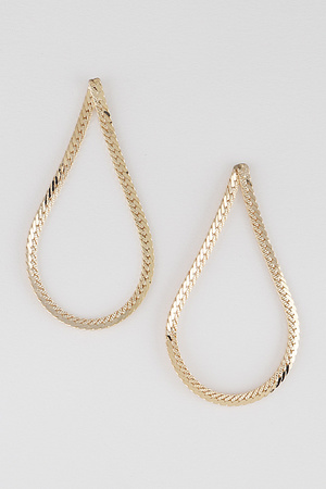 Water Drop Bulk Chain Stud Earring