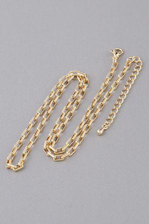 Thick Round N Round Chain Necklace