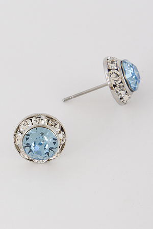 Formal & Chic Rhinestone Stud Earrings 7ICF5