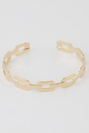 Melted Chain Cuff Bracelet