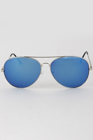 Classic Mirrored Tinted Sunglasses