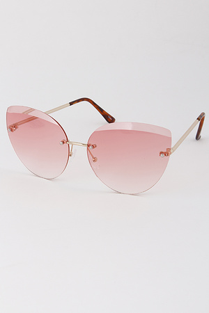 No Framed Tinted Fashion Sunglasses