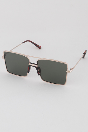 Gold Rimmed Aviator Sunglasses