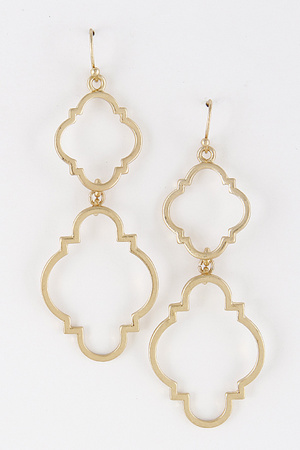 Double Drop Abstract Earring 7LBF6