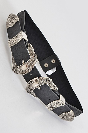 Antique Inspired Belt With Stones