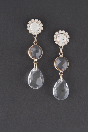 Limestone Water Drop Earring