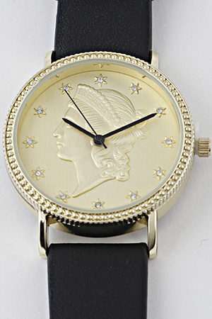 Athens Portrait Rhinestone Watch