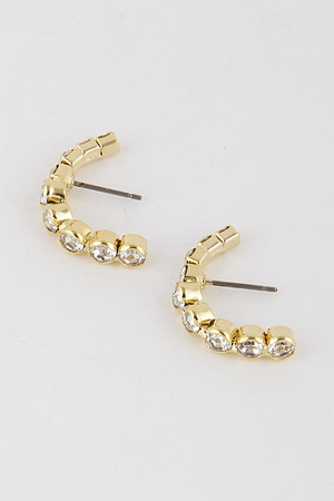 Rhinestone Half Hoop Earrings 9JAD1