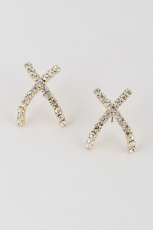 Cross Rhinestone Earrings 9JAD1