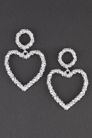 Open Cut Hart Drop Earring