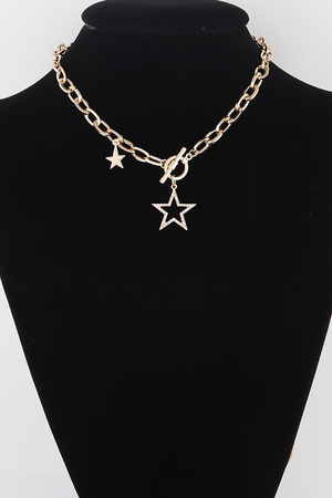 Star Pendant Toggle Necklace