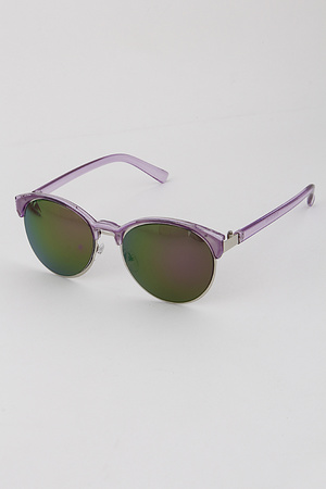 Translucent Browline Sunglasses