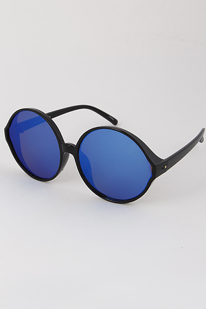 Round Turtle Tinted Sunglasses
