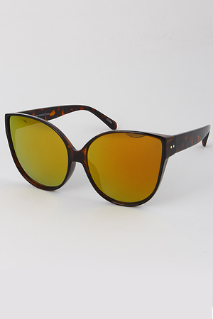Oversize Cat Eye Tinted Sunglasses
