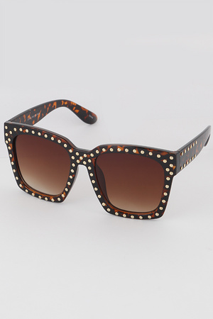 Oversize Fashion Sunglasses With Circles