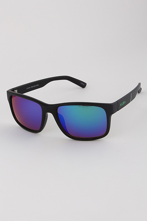 Mirrored Lens Sports Sunglasses