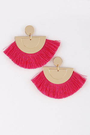 Gold and Tassel Earrings  8EAB3