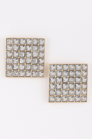 Square Rhinestone Earrings 9BAC3