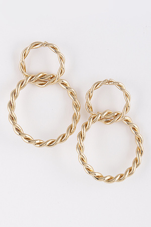 Twisted Hoop Earrings 9BAC3